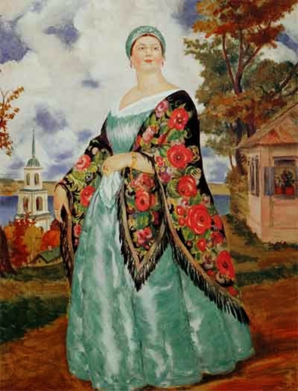 Б.Кустодиев. Купчиха. 1923-1024